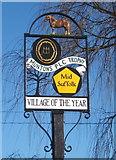TM0652 : Village award sign, Barking Tye by Andrew Hill