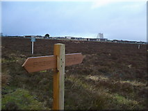 SE8696 : Permissive Bridleway sign near RAF Fylingdales by Phil Catterall
