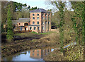 SO8688 : Smestow Brook and Greensforge Mill (winter), Staffordshire by Roger  Kidd
