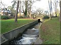 SZ0692 : Bournemouth Gardens: concrete channel by Chris Downer