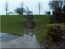 NS5170 : Stairs from Great Western Retail Park by Stephen Sweeney