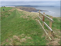 TA0983 : Cleveland Way by Gristhorpe Cliff by Chris Wimbush
