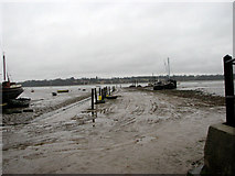 TM2038 : View north across the River Orwell and Potter's Reach by Evelyn Simak