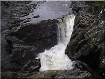 NN2981 : Waterfall in gorge near Monessie by Mike Bunton