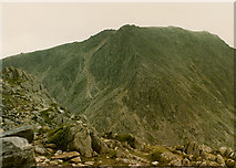 SH6659 : View south southeast from Tryfan by Nigel Brown