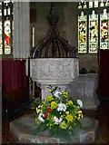 ST6834 : Font, St Mary's Church, Bruton by Maigheach-gheal