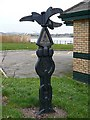 ST3186 : Milepost at a National Cycle Network junction by Robin Drayton