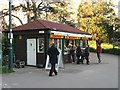 SZ0891 : Bournemouth Gardens: coffee shop and balloon ticket office by Chris Downer