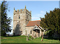 SO5689 : Holy Trinity Church at Holdgate, Shropshire by Roger  Kidd