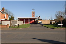 TL4197 : March Fire Station on Dartford Road by dennis smith