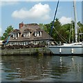 TG3108 : Old Thatched House, Brundall Gardens Marina by Paul Shreeve