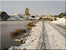NT6334 : Smailholm Tower in winter by Walter Baxter