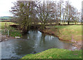 SO5184 : River Corve at Lawton, Shropshire by Roger  Kidd
