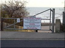 TQ7306 : Warning Notice, Bexhill-on-Sea by Bill Johnson