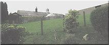 SH3537 : Farm buildings at Pont-y-Gribin by Eric Jones