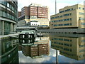 TQ2681 : St. Mary's Hospital, Grand Union Canal - Paddington Basin by Phillip Perry
