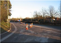 SU6252 : Allotment access road joining Churchill Way West by Given Up