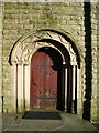 SD7900 : St John's Church, Pendlebury, Doorway by Alexander P Kapp