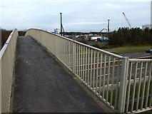 NS3335 : Footbridge, Shewalton by wfmillar