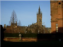 NS5666 : Glasgow University Old Building from the side of the Kelvingrove Art Gallery by Stephen Sweeney