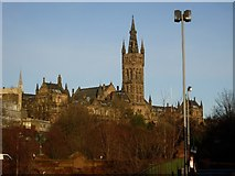 NS5666 : Glasgow University Old building from Bunhouse Road by Stephen Sweeney