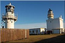 NJ9967 : Lighthouses at Kinnaird Head by John Allan