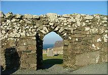 NG2261 : Doorway of Trumpan Church by Dave Fergusson