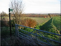 TR3156 : Footpath at the end of Church Street, Woodnesborough by Nick Smith