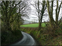 SX0066 : Road to St Beock Downs by Jonathan Billinger