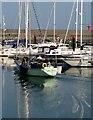 J5082 : 'Big Boots', Bangor Marina by Rossographer