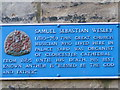 SO8318 : Plaque to Samuel Wesley by andy dolman