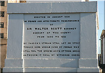 NT4728 : Inscription on the Sir Walter Scott Statue by Walter Baxter