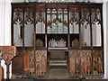 TG0807 : The church of St Peter & St Paul - rood screen by Evelyn Simak