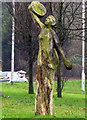 J3269 : Oak figures, Malone Road roundabout [1] by Rossographer