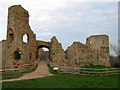 TQ6404 : Gatehouse, Pevensey Castle by Simon Carey