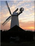 TQ6104 : Stone Cross Windmill at Sunset by Simon Carey