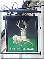 TM2373 : The White Hart pub sign by Keith Evans