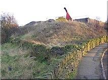 SE1220 : Walls and embankment, Ridge End, Pinfold Lane, Fixby by Humphrey Bolton