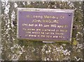NT0796 : Plaque on Dumglow trig. by Neil MacLeod