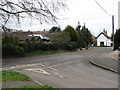 TL9499 : Junction of The Street with Carbrooke Road by Evelyn Simak