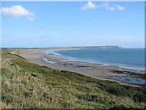 SH2428 : Porth Neigwl from footpath off old road to Rhiw by Julie Cookson
