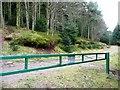 SO2428 : Barrier in Mynydd Du Forest by Graham Horn