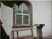 NH4591 : Window at Croick Church by Lynn M Reid