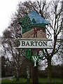 TL4055 : Barton Village Sign, east side by Keith Edkins