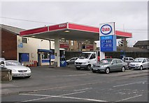 SE2223 : Esso Filling Station - Halifax Road by Betty Longbottom
