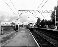 SJ8195 : Warwick Road (for Old Trafford) station by Dr Neil Clifton