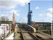TF3243 : Boston Docks branchline, Boston by Dave Hitchborne