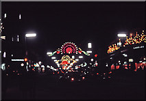 TQ2980 : Christmas Lighting in Regent Street, London, taken in 1969 by Christine Matthews