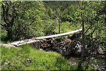 NM9184 : Foot bridge just south of Corryhully by Patrick De Jode