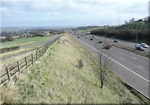 SE1220 : The M62 and the diverted Pinfold Lane, Fixby by Humphrey Bolton